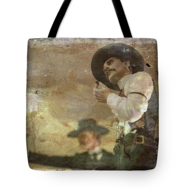 Gunslinger II Doc Holliday Tote Bag by Toni Hopper