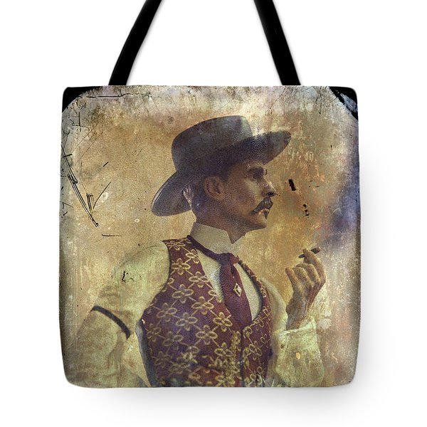 Gunslinger IIi Doc Holliday In Fine Attire Tote Bag by Toni Hopper