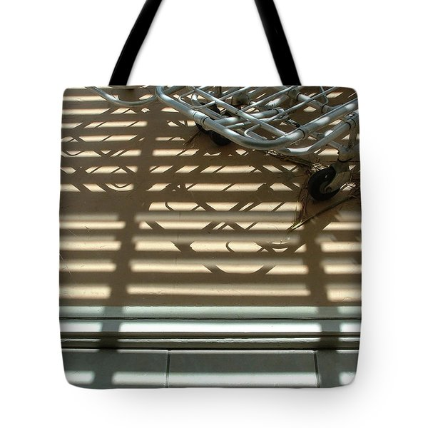 Gurneys Under A Pergola Through A Picture Window Tote Bag
