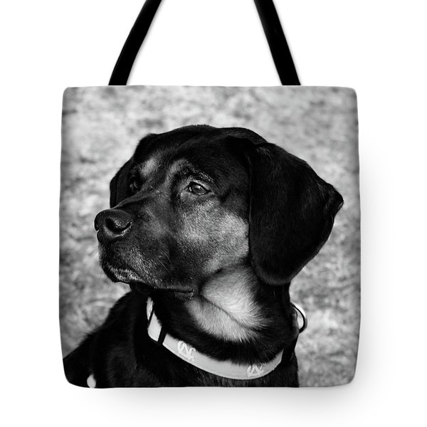Gus - Black And White Tote Bag
