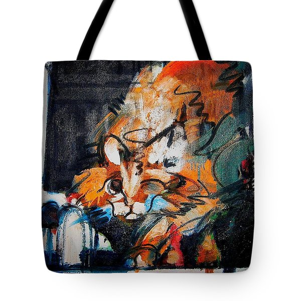 Tote Bag featuring the painting Gus by Les Leffingwell