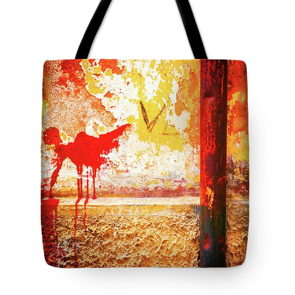 Tote Bag featuring the photograph Gutter And Decayed Wall by Silvia Ganora