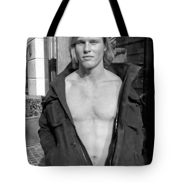 Guy Black And White Tote Bag