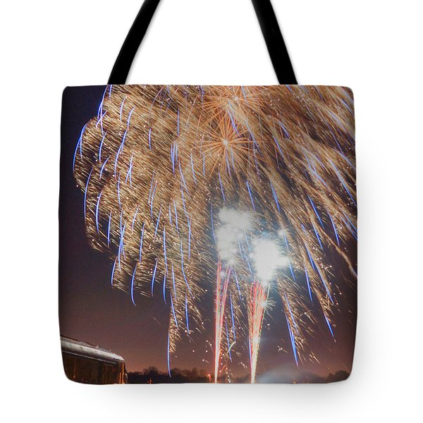 Guy Fawkes Night Fireworks Tote Bag