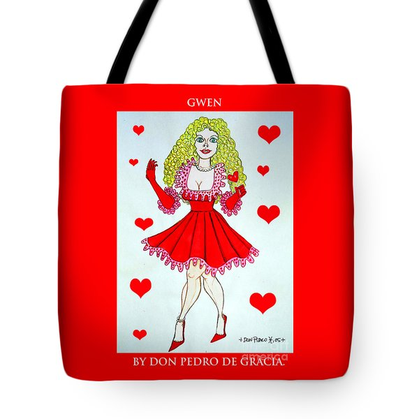 Tote Bag featuring the painting Gwen by Don Pedro De Gracia