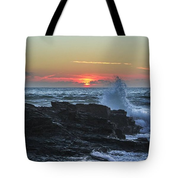 Gwithian Beach Sunset  Tote Bag