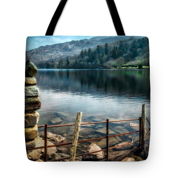 Tote Bag featuring the photograph Gwynant Lake by Adrian Evans