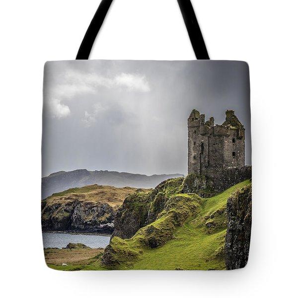 Gylen Castle On Kerrera In Scotland Tote Bag
