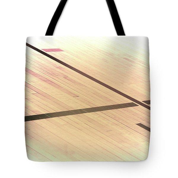 Gym Floor Tote Bag