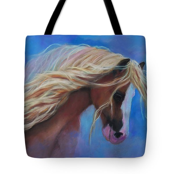 Tote Bag featuring the pastel Gypsy In The Wind by Karen Kennedy Chatham