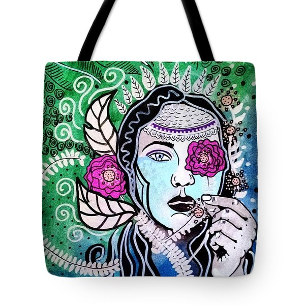 Gypsy Mary Tote Bag by Amy Sorrell