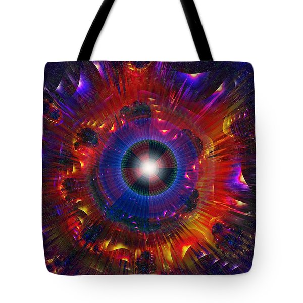 Tote Bag featuring the digital art Gyro Power by Mario Carini
