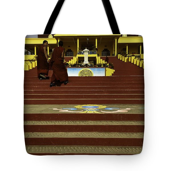 Gyuto Monastery Tote Bag by Rajiv Chopra