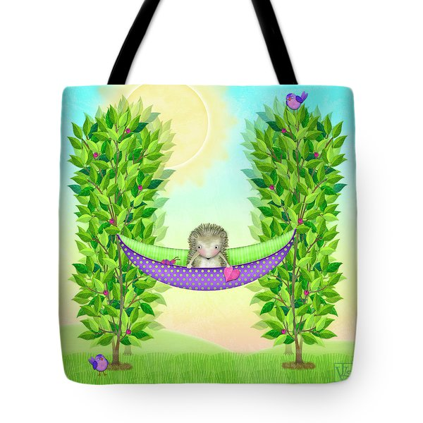 H Is For Hedgehog And Hammock Tote Bag