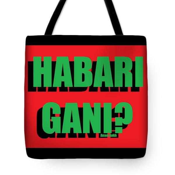 Habari Gani Tote Bag