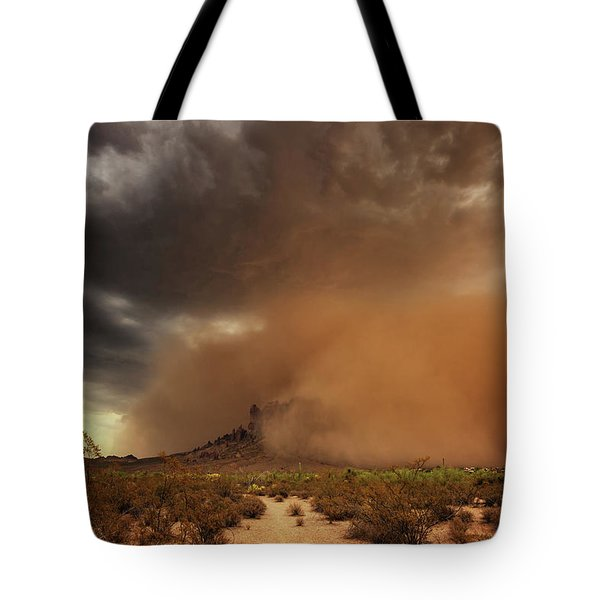Tote Bag featuring the photograph Haboob Is Coming by Rick Furmanek