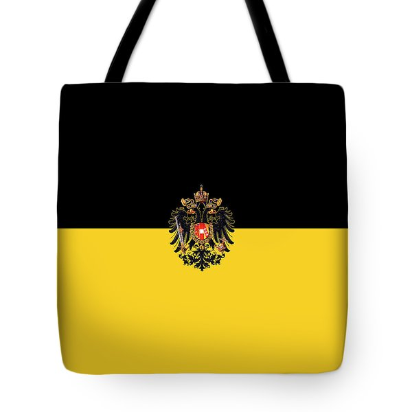 Tote Bag featuring the digital art Habsburg Flag With Imperial Coat Of Arms 3 by Helga Novelli