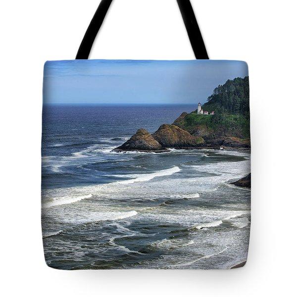 Haceta Lighthouse Tote Bag