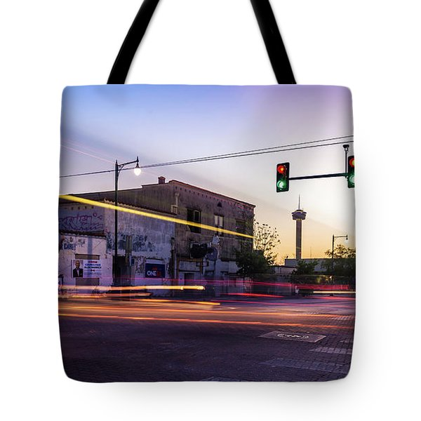 Hackberry And Commerce Tote Bag by Micah Goff