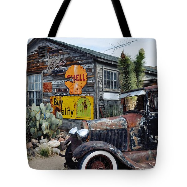 Tote Bag featuring the photograph Hackberry Route 66 Auto by Kyle Hanson