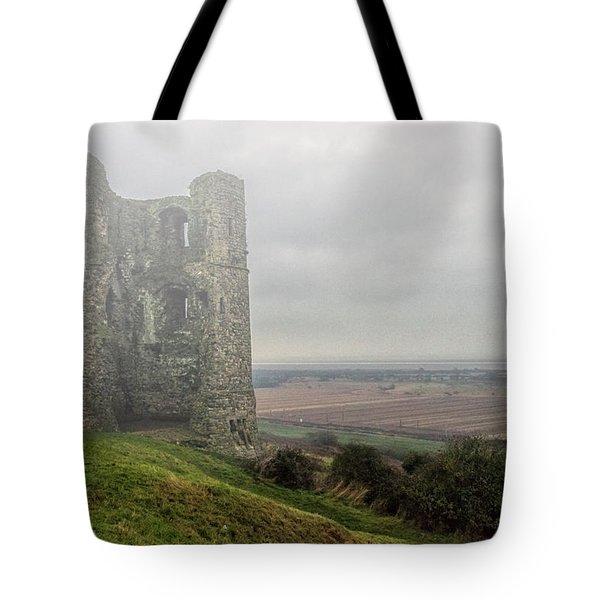 Hadleigh Castle Fog Tote Bag