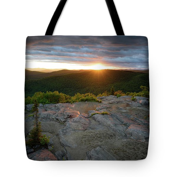 Hadley Mountain Sunset Tote Bag