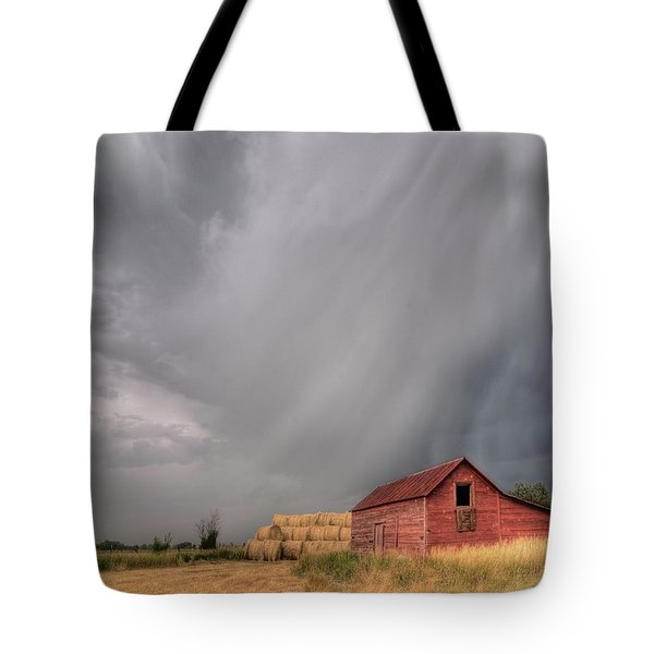 Hail Shaft And Montana Barn Tote Bag