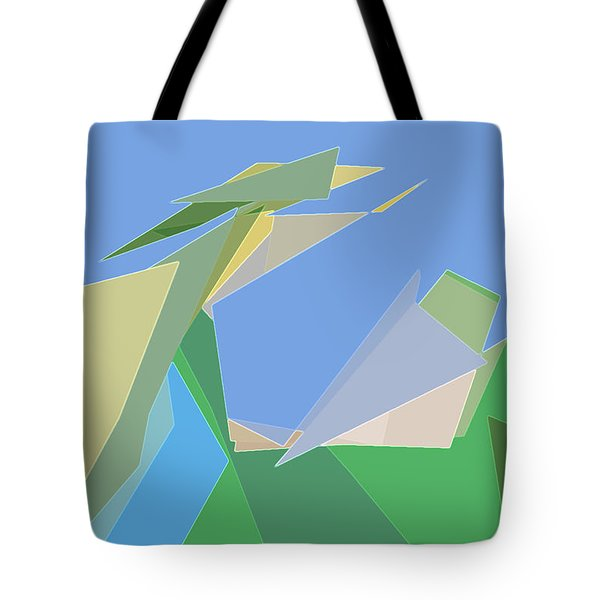 Tote Bag featuring the digital art Hailing A Taxi by Gina Harrison
