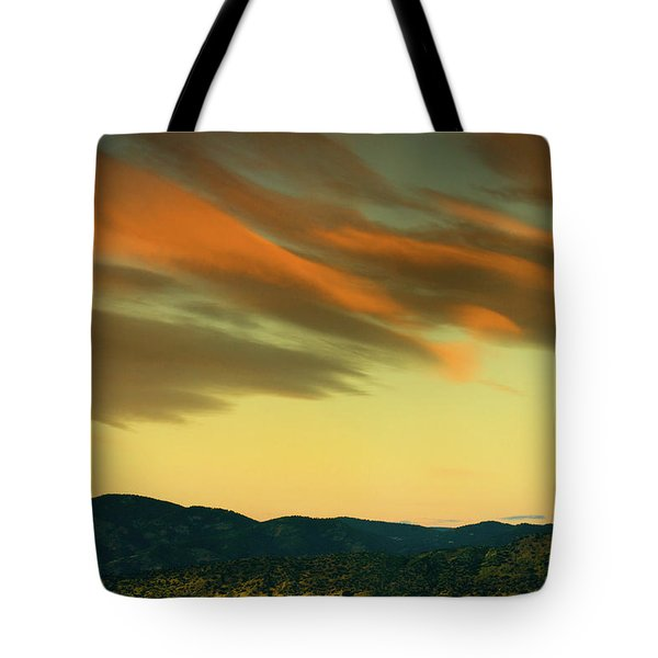 Tote Bag featuring the photograph Hailing The Sky by John De Bord