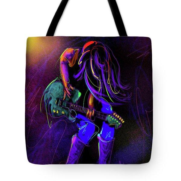 Hair Guitar Tote Bag