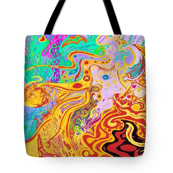 Hair Of The Divine Universe Tote Bag