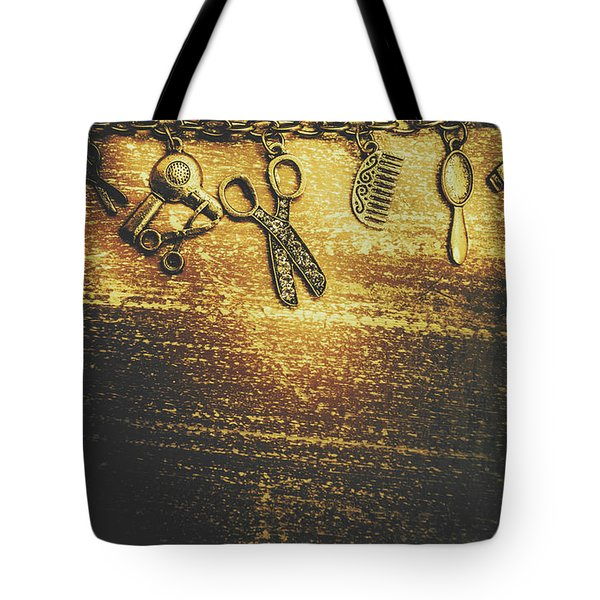 Hairdressing Beauty Salon Background Tote Bag