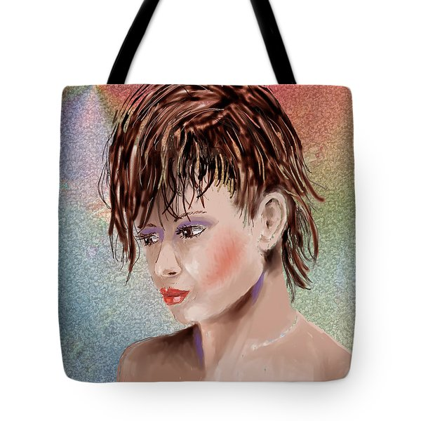 Hairstyle Of Colors Tote Bag by Arline Wagner