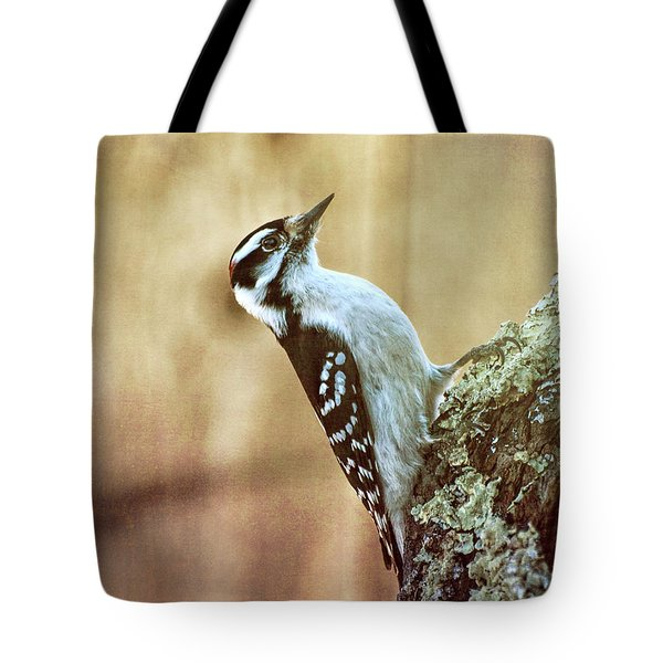 Hairy Woodpecker Tote Bag