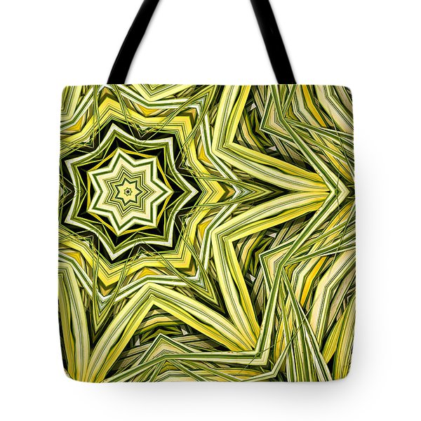 Tote Bag featuring the digital art Hakone Grass Kaleido by Peter J Sucy