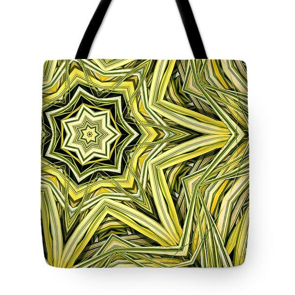 Hakone Grass Kaleido Tote Bag by Peter J Sucy