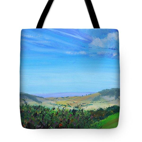 Haldon Hills Sea View Tote Bag