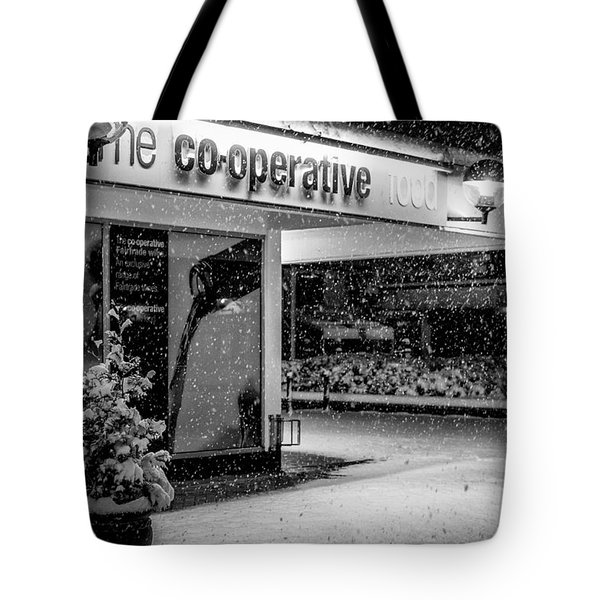Hale Barns Co-op In The Snow Tote Bag