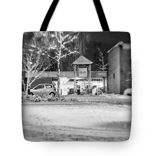 Hale Barns Square In The Snow Tote Bag