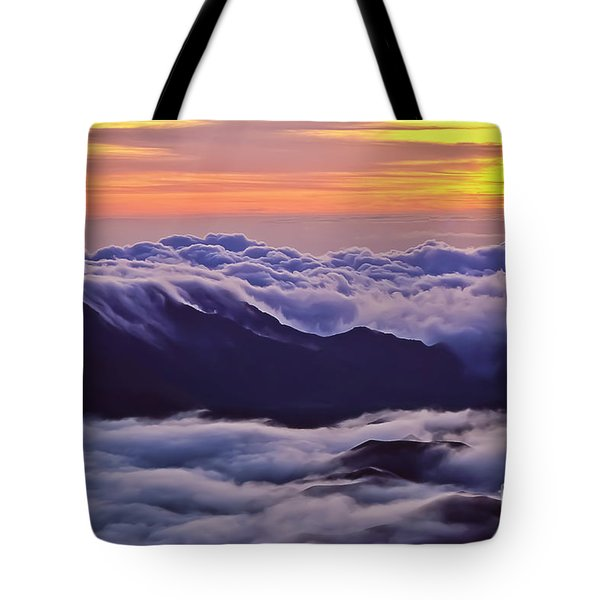Maui Hawaii Haleakala National Park Golden Dawn Tote Bag