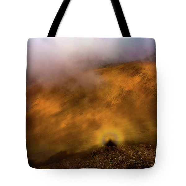 Tote Bag featuring the photograph Haleakala Halo by M G Whittingham