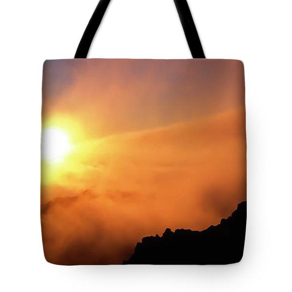 Haleakala Sunrise Over The Hana Highway Tote Bag