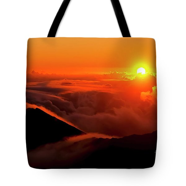 Maui Hawaii Haleakala National Park Sunrise V Tote Bag