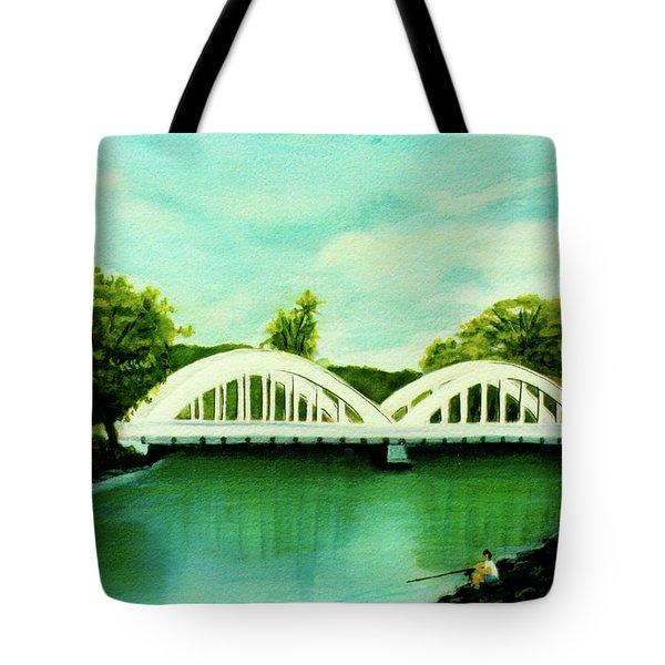 Haleiwa Bridge North Shore Oahu Hawaii #95 Tote Bag by Donald k Hall