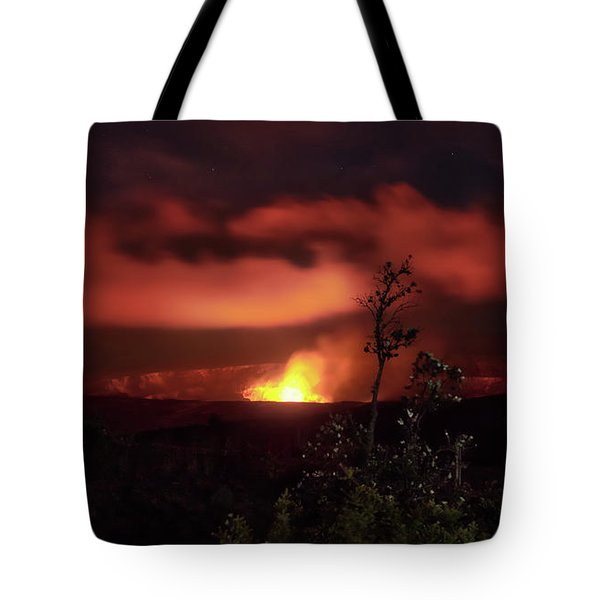Tote Bag featuring the photograph Halemaumau Crater by Susan Rissi Tregoning