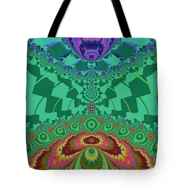 Tote Bag featuring the digital art Halernewid by Andrew Kotlinski