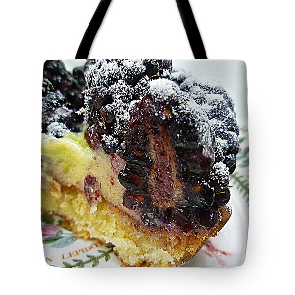 Half A Blackberry Tart Tote Bag by Renee Trenholm