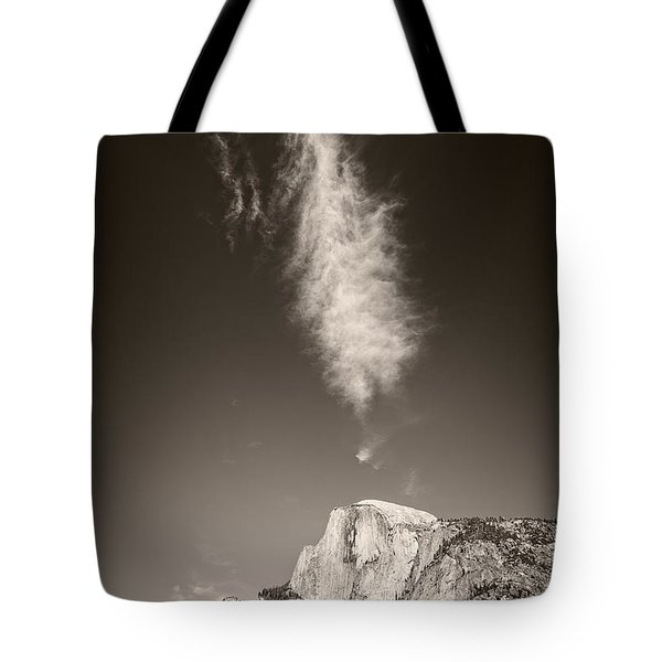 Half Dome And Cloud Tote Bag