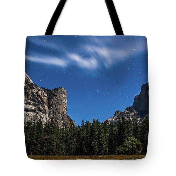 Half Dome And Moonlight - Yosemite Tote Bag