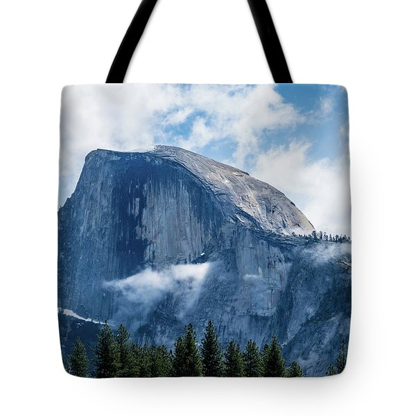Half Dome In The Clouds Tote Bag